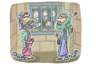 Modelo De Licao Sobre Paulo E Silas Na Prisao Material Gospel